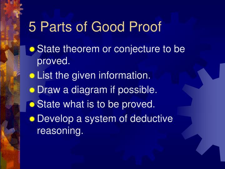 5 Parts of Good Proof