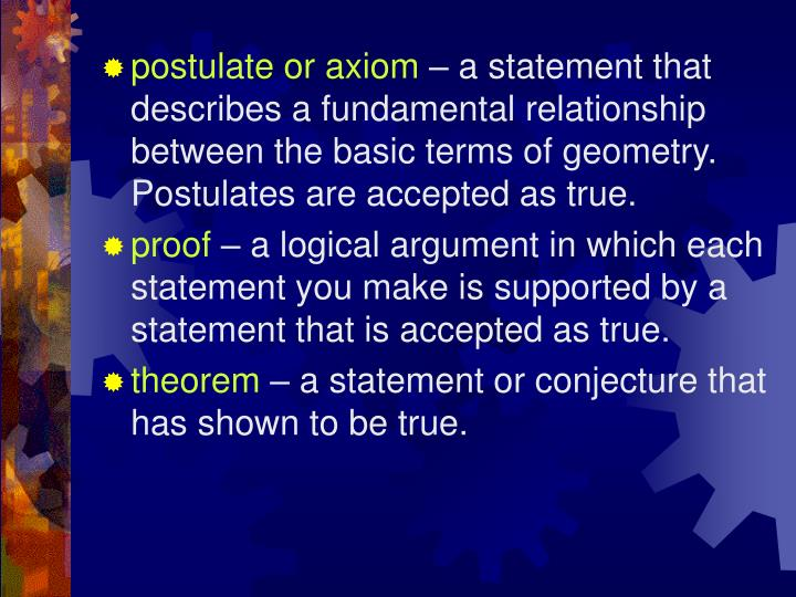 postulate or axiom