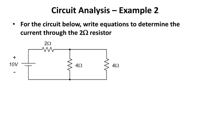 Circuit Analysis – Example 2
