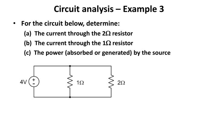Circuit analysis – Example 3