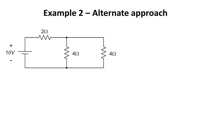 Example 2 – Alternate approach