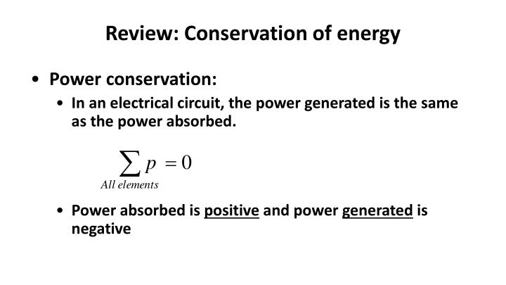 Review: Conservation of energy