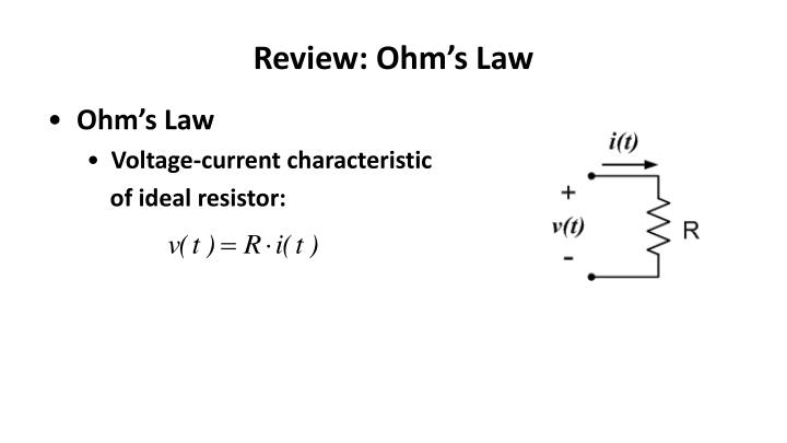 Review: Ohm's Law