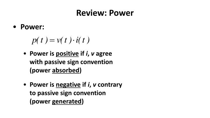 Review power