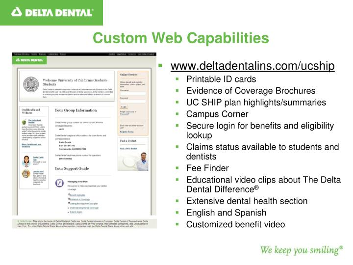 Custom Web Capabilities