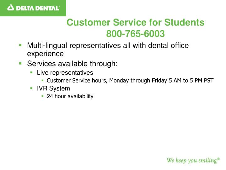 Customer Service for Students