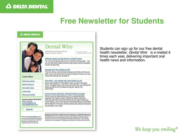 Free Newsletter for Students