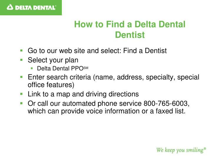 How to Find a Delta Dental Dentist
