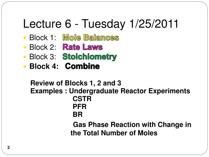Lecture 6 tuesday 1 25 2011
