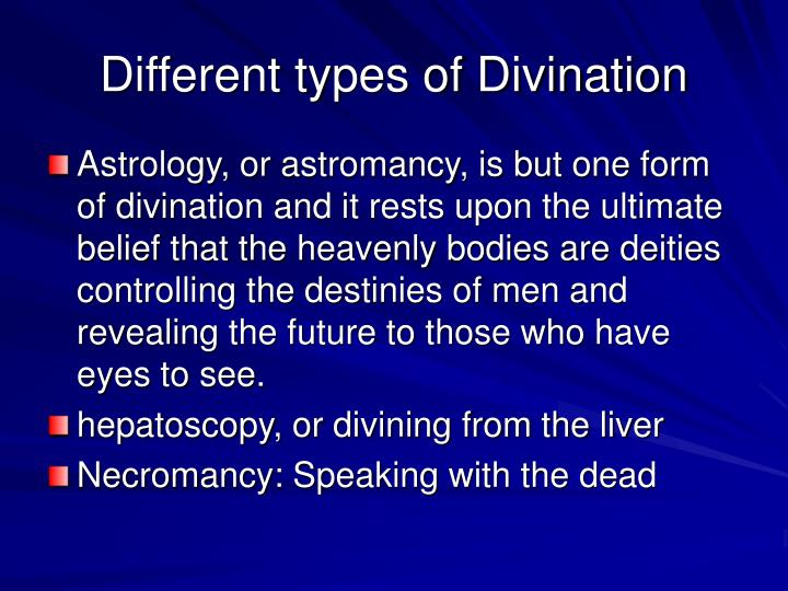 Different types of Divination