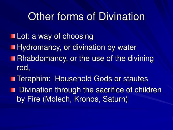 Other forms of Divination