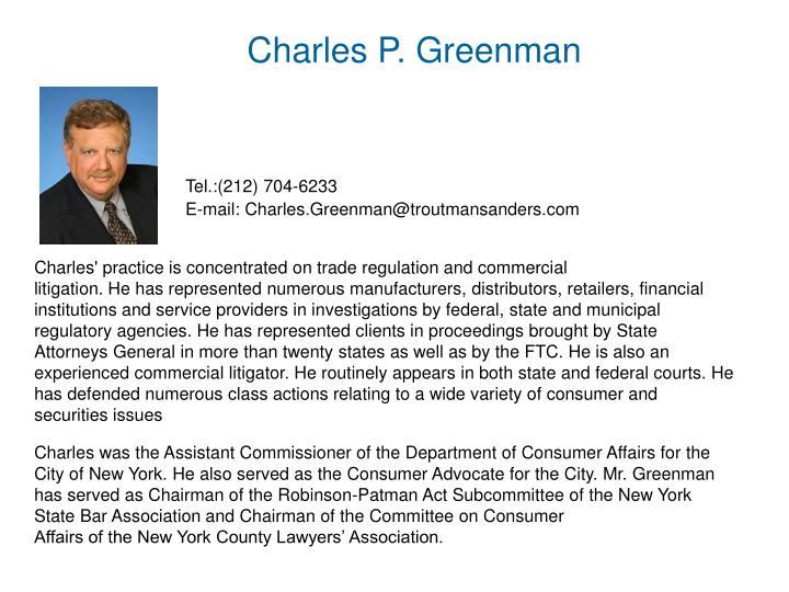 Charles P. Greenman
