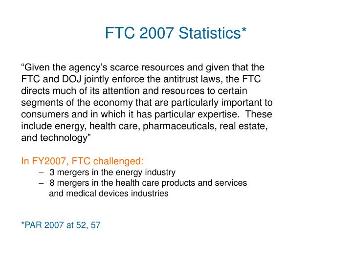 FTC 2007 Statistics*