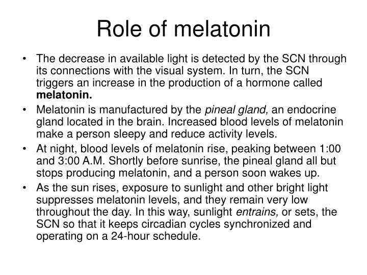 Role of melatonin