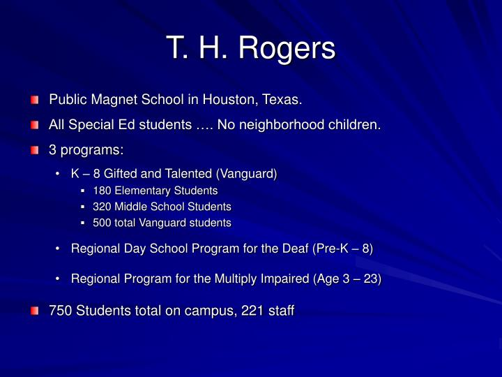 T h rogers
