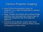 camera projector mapping