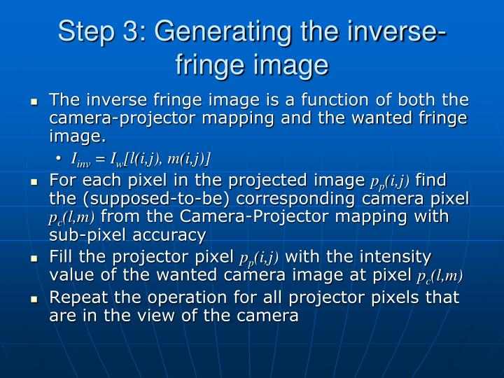 Step 3: Generating the inverse-fringe image