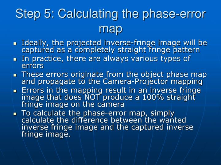 Step 5: Calculating the phase-error map