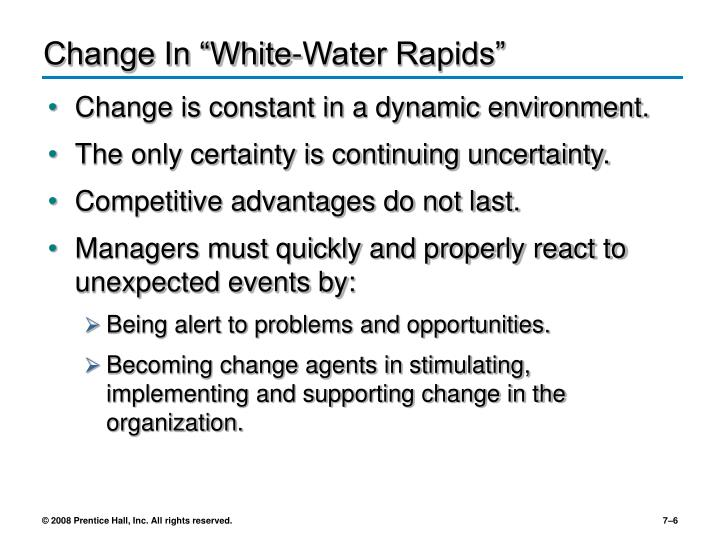 "Change In ""White-Water Rapids"""