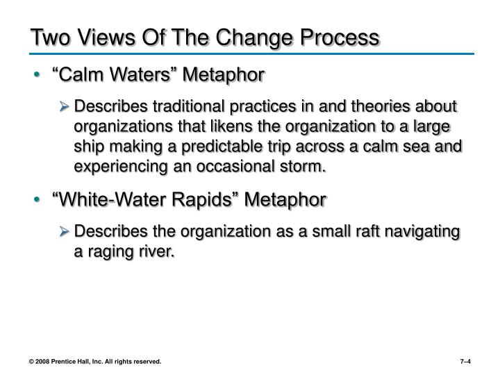 Two Views Of The Change Process