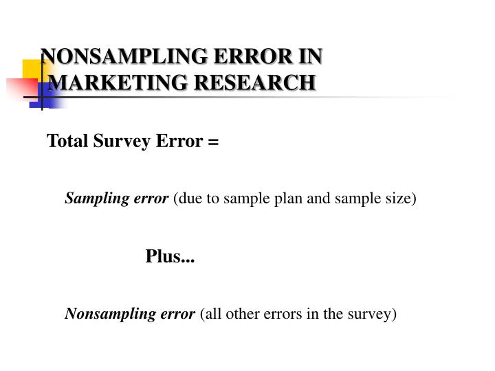 NONSAMPLING ERROR IN
