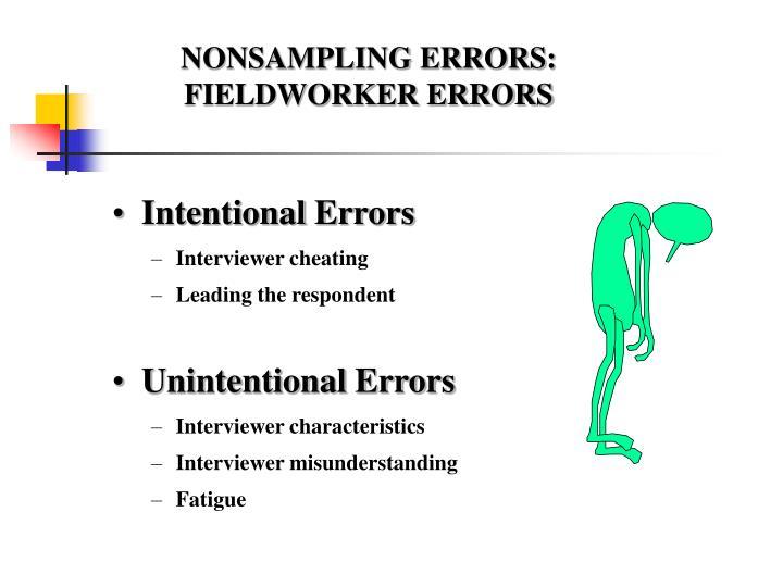 NONSAMPLING ERRORS: