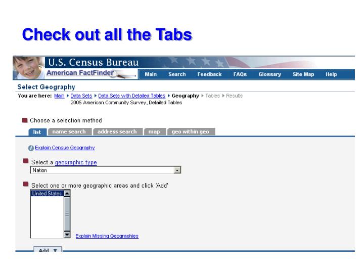 Check out all the Tabs