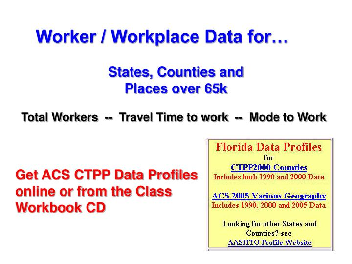 Worker / Workplace Data for…