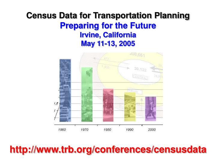 Census Data for Transportation Planning