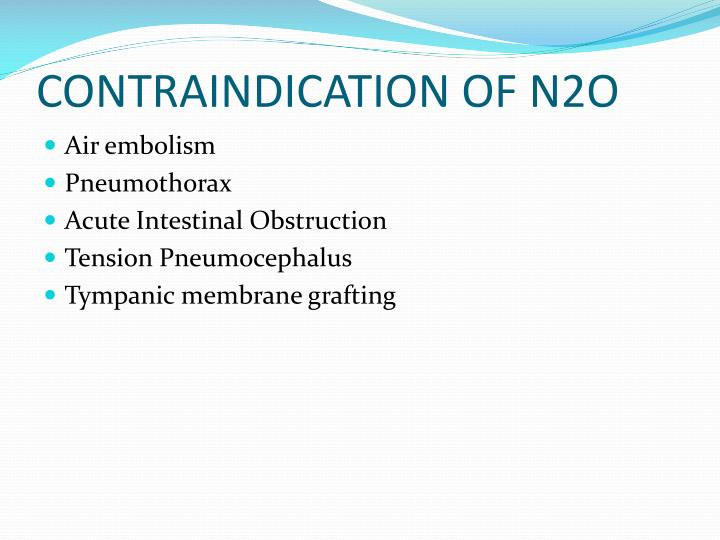 CONTRAINDICATION OF N2O