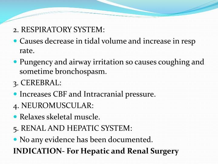 2. RESPIRATORY SYSTEM: