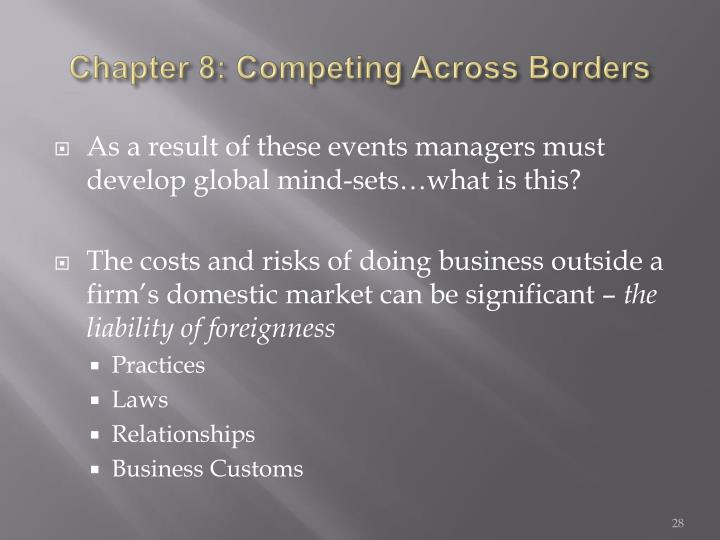 Chapter 8: Competing Across Borders