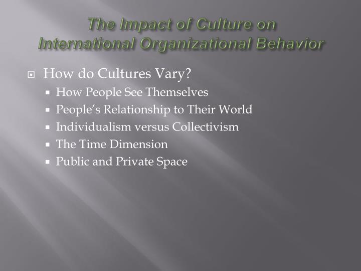 The Impact of Culture on