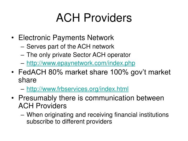 ACH Providers