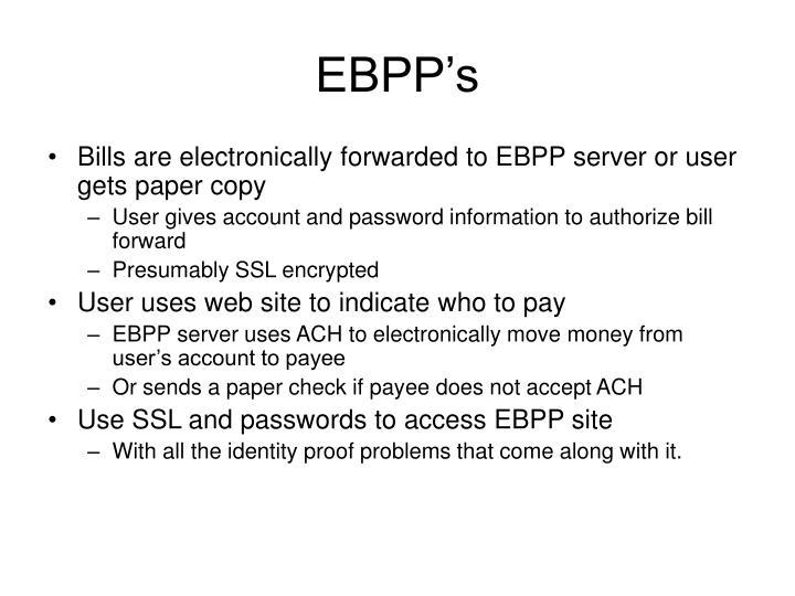 EBPP's