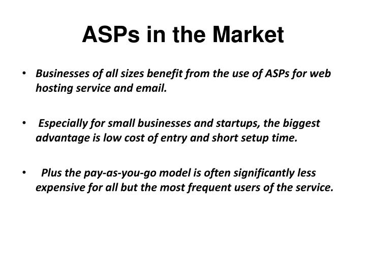 ASPs in the Market