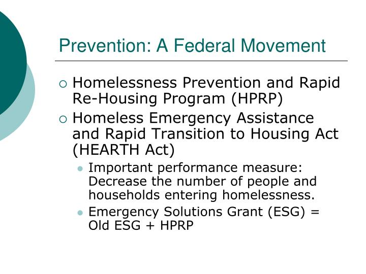 Prevention: A Federal Movement