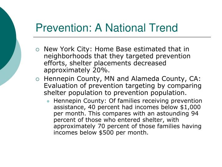 Prevention: A National Trend