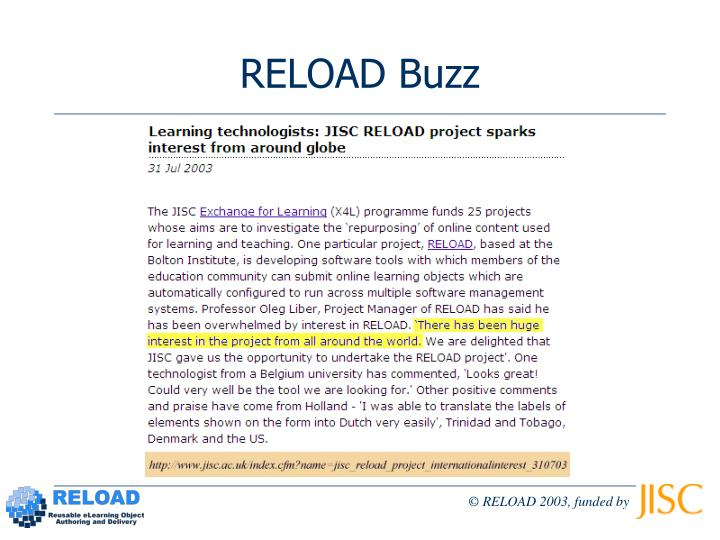 RELOAD Buzz
