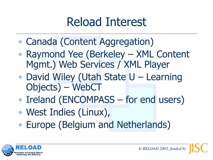Reload Interest