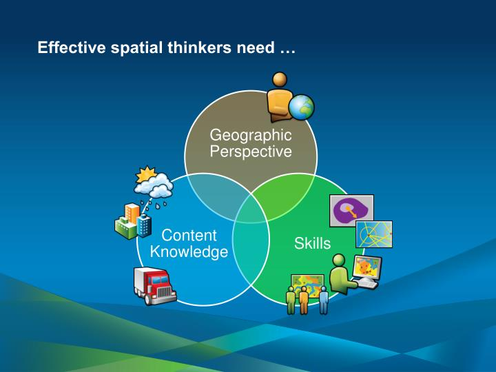 Effective spatial thinkers need …