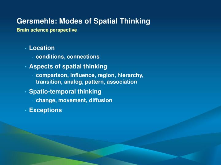 Gersmehls: Modes of Spatial Thinking