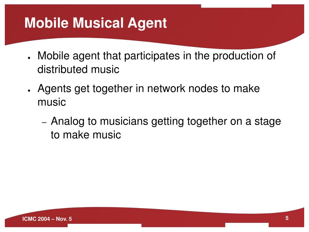 Mobile Musical Agent