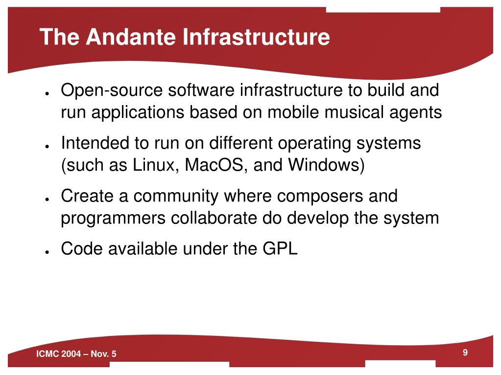 The Andante Infrastructure