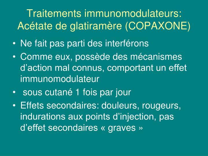 Traitements immunomodulateurs: Acétate de glatiramère (COPAXONE)