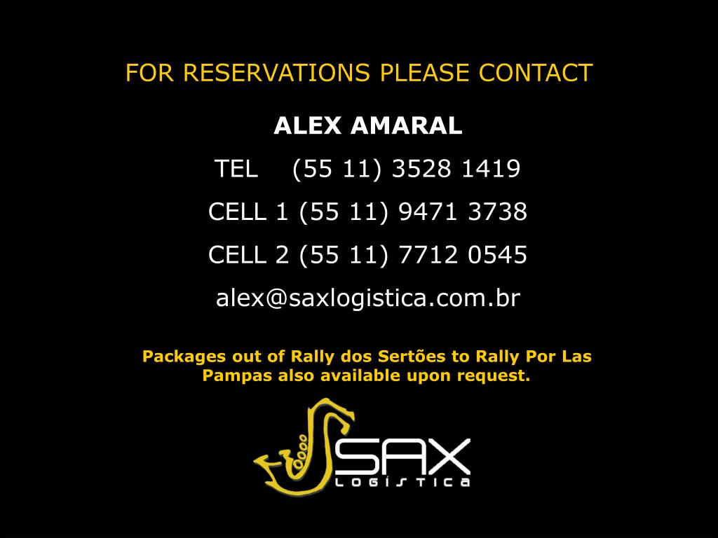 FOR RESERVATIONS PLEASE CONTACT