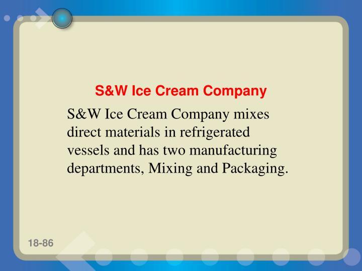 S&W Ice Cream Company