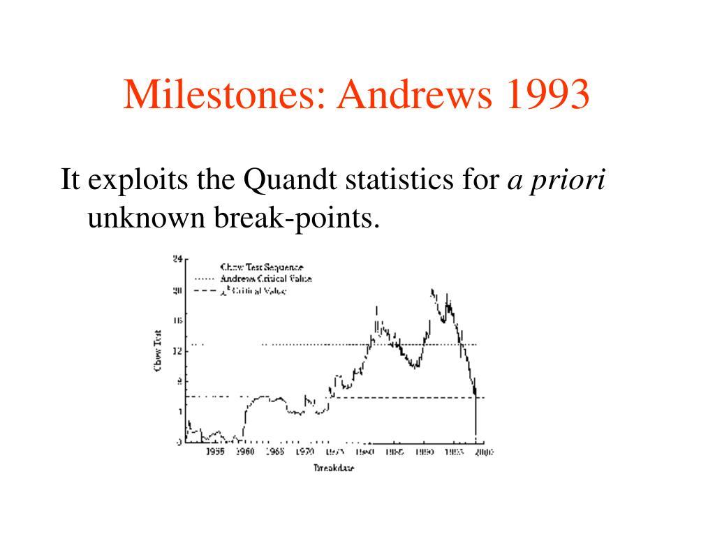 Milestones: Andrews 1993