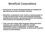 beneficial corporations
