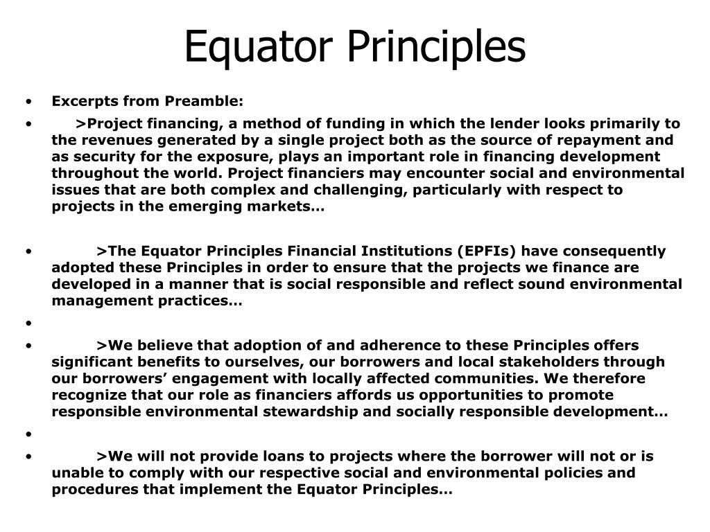 Equator Principles